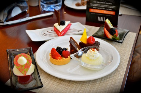 Our dessert plate at Tides Restaurant for Lunch