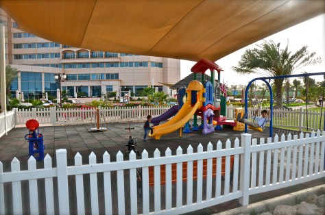 Kids play area at Danat Jebel Dhanna Resort