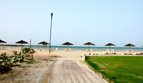 The beach at Danat Jebel Dhanna Resort