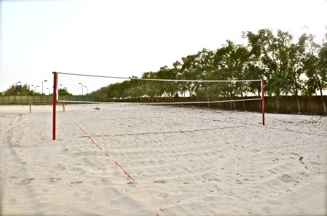 Beach Volleyball at Danat Jebel Dhanna Resort