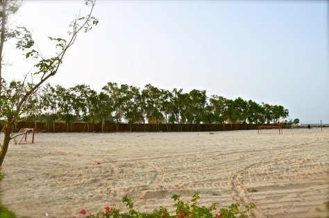 Beach Football at Danat Jebel Dhanna Resort