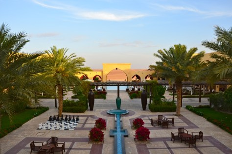 The inner compound of Tilal Liwa Hotel