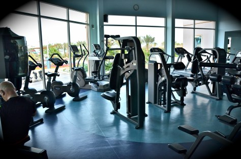 Gymnasium at Danat Jebel Dhanna Resort