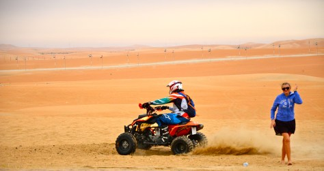 Quad bike safaris at Tilal Liwa Hotel