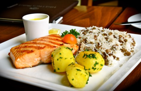 Grilled scottish salmon steak - dhs 89