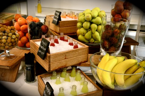 Fresh Fruits and juices - Dryfruits - Dhs 125 breakfast buffet at 3in1 - Vida Downtown