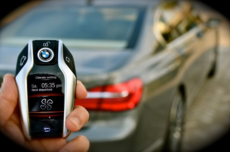 BMW display key of 750 Li
