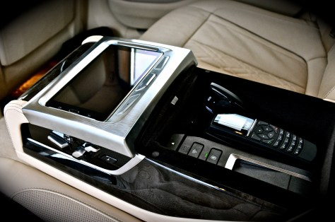 BMW Executive Lounge rear console inside the BMW 750Li 2016