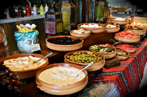 Arabic breakfast at Ballaro, Conrad Dubai
