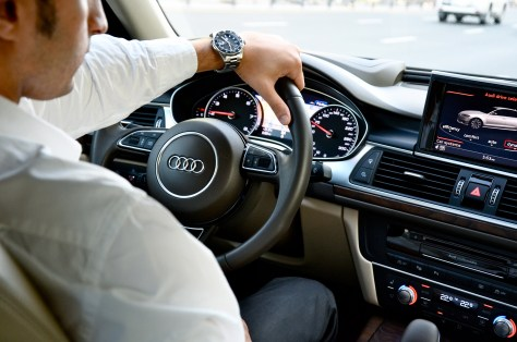 Driving the Audi A6 2016