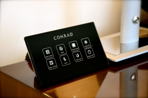 Executive Suite room controls with a touch