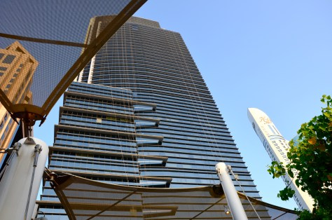 Conrad Dubai (The view from the Purobeach)