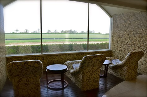 Warm your body with great views of the Polo field