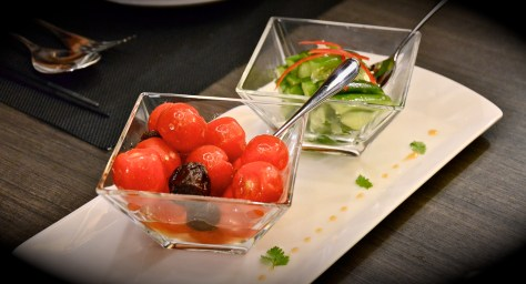 Combination of Pickled Garlic Cucumber and Cherry Tomatoes with Plum - dhs 25
