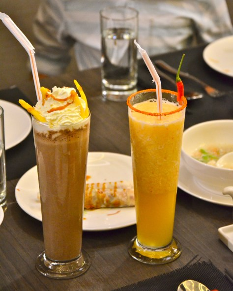 From Left: JackFruit Frappe - Dhs 24 and Spiced Mangosteen Margarita(Dhs 22)