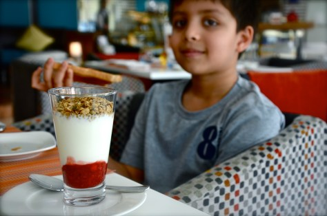 The adorable Granola ( a part of AED 90 continental breakfast )