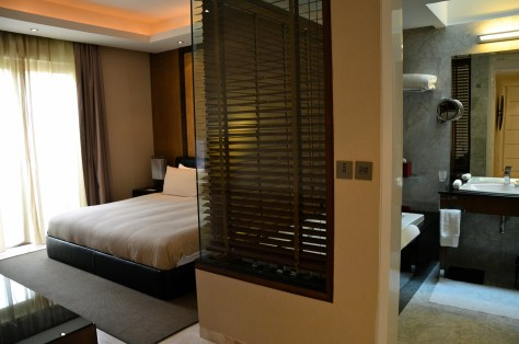 Master bedroom interiors, Pool Residence villa