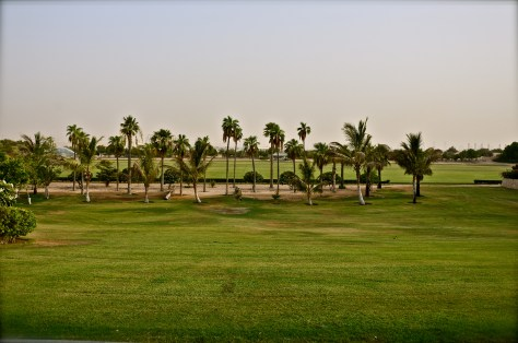 Open green fields of Desert Palm Per Aquum used for events and functions