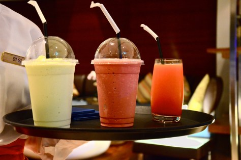 Frappes(pistachio and Red velvet) - dhs 30 and fresh juice - dhs 20