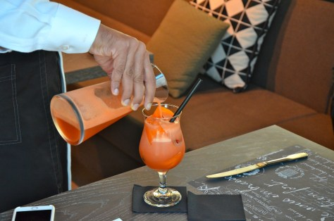 Sangria Mocktail - grape, cranberry, grenadine, orange, ginger ale - AED 19