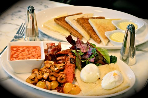 ALL DAY BREAKFAST, Eggs , Beef Bacon, Sausage, Bread, Beans, Toast - AED 150