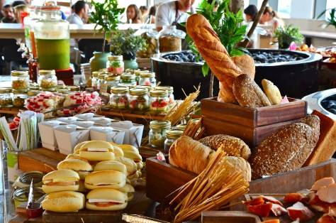 Breads and sandwiches at Bench Brunch @ The daily, Rove hotel Downtown Dubai