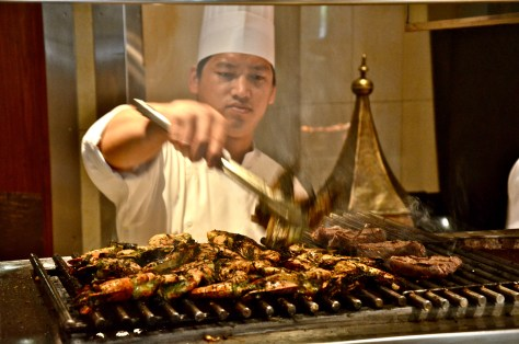 BBQ - Beef tenderloin, rib eye, steak, lamb chops, shish tawook, Omani Lobster