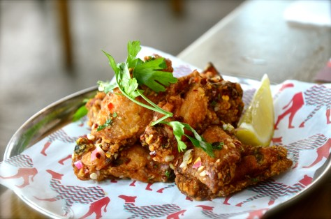 Khaleeji wings - AED 38 - fried chicken wings flavoured with homemade sauce