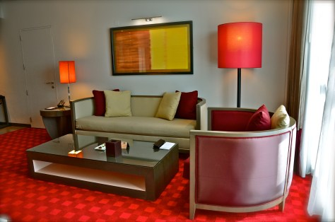 Living area at Club Rotana Suite