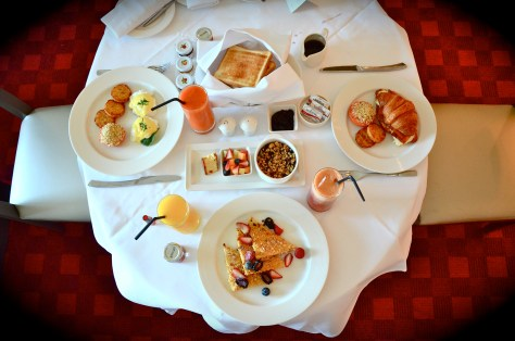 Dine in breakfast in our room at Park Rotana, AbuDhabi