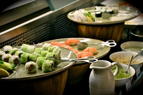 Sushis on Seafood night at GINGER ALL DAY DINING