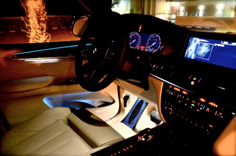 Ambient lighting inside the BMW X5