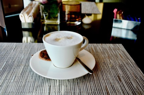 A typical coffee provided at Dusit Club Lounge