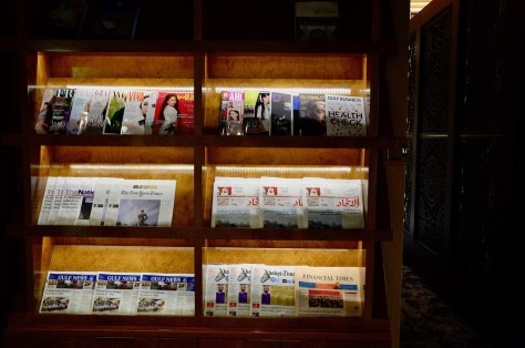 Selection of daily international and local newspapers and magazines at Dusit Thani Club Lounge
