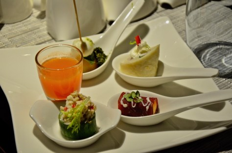 Dusit Club Lounge evening snacks from 05:30pm to 07:30pm