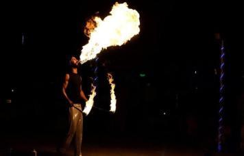 Stick Man Fire Show Dubai Safari