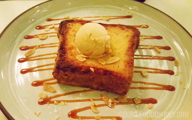 French toast at La Residence Dubai