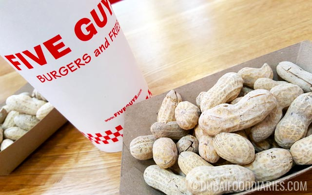 Peanuts at Five Guys Dubai Marina Mall