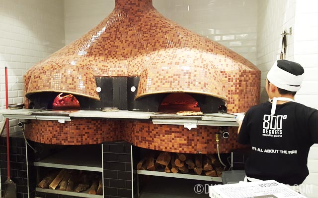Wood-fired pizza oven at 800 Degrees Neapolitan Pizzeria Mall of the Emirates Dubai