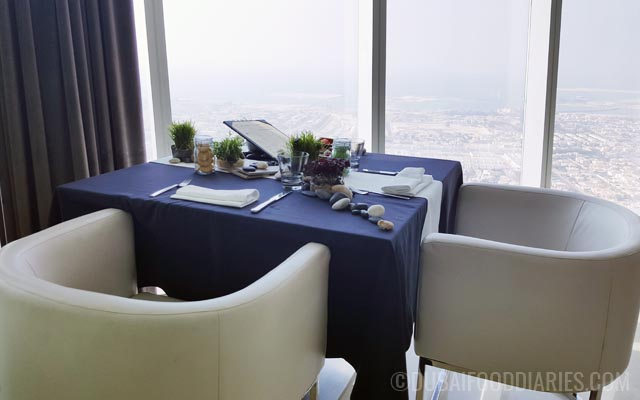 Civilised seating with view at Tea Party on 68th Prime68 JW Marriott Marquis Dubai