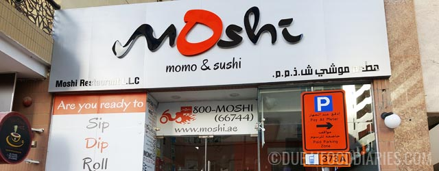 Momos and sushi at Moshi, Al Barsha