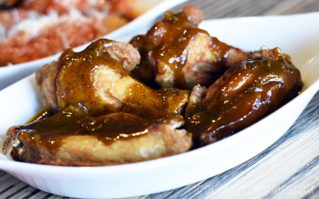 Wings with sweet curry flavour at Original Wings and Rings DIFC Dubai
