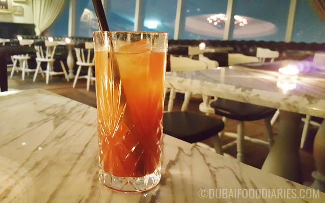 Sweet iced tea at Weslodge Saloon at JW Marriott Marquis Dubai