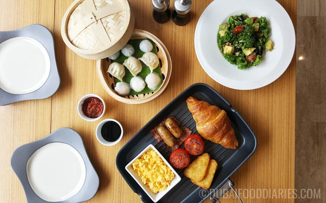 Breakfast spread at Counter Culture Cafe Marriott Harbour Hotel and Suites Dubai Marina