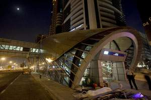 Dubai's Financial Center metro station. Last Minute convenience stores has withdrawn from running 18 of the 28 outlets on the Dubai Metro.