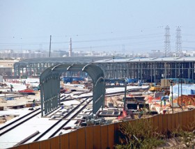 Construction work to complete the Metro station at Al Rashidiya in full swing as the launch date approaches.