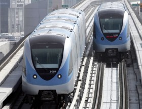 Hadrian Hernandez/Gulf News Driverless trials of the trains for the Dubai Metro continue, leading up to the launch on Wednesday.