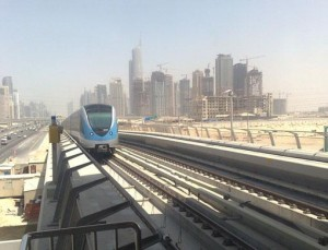 Abbas Lawati/Gulf News A train arrives at the Nakheel Harbour and Tower Station two hours late.