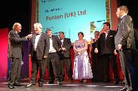 Kevin Tester of Penton UK Ltd with Fred Dinenage after winning the Worthing business of the year award