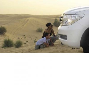 Kids of all ages will love dune-bashing in the desert.